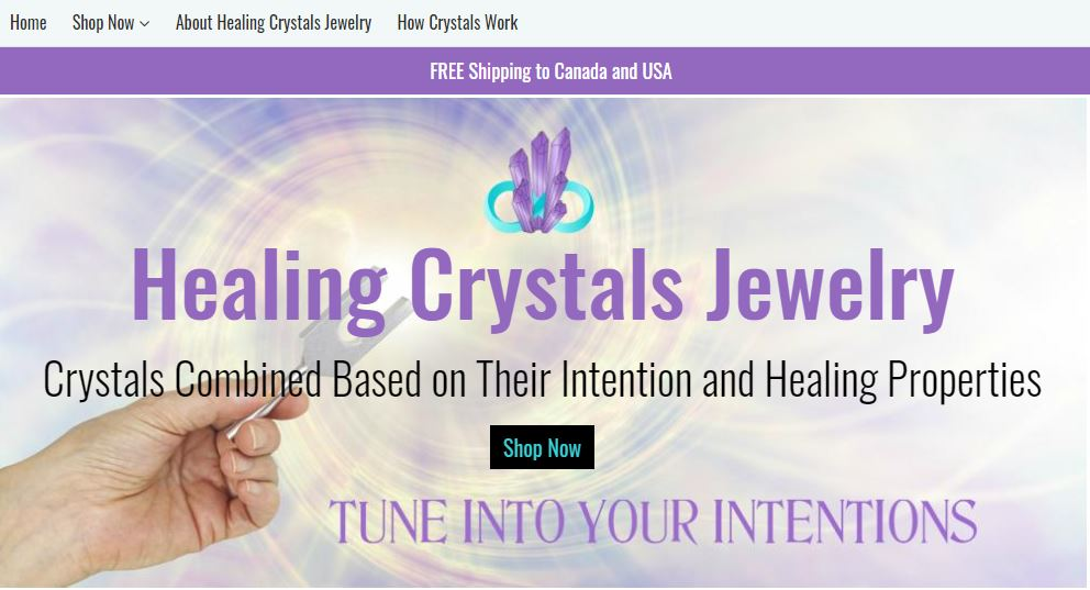 Healing Crystals Jewelry